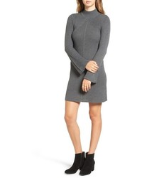Sequin Hearts Bell Sleeve Knit Sweater Dress