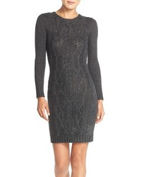 Andrew Marc Marc New York Cable Knit Sweater Body Con Dress