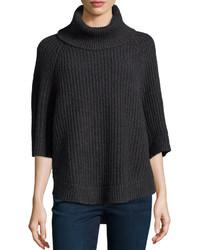Charcoal Knit Turtleneck