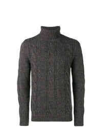 Obvious Basic Cable Knit Turtleneck Sweater