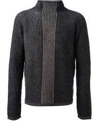 Ribbed roll neck sweater medium 110491