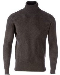 Side slope turtle neck sweater medium 110531