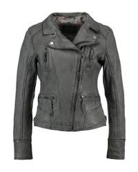 Leather jacket anthracite medium 4240430