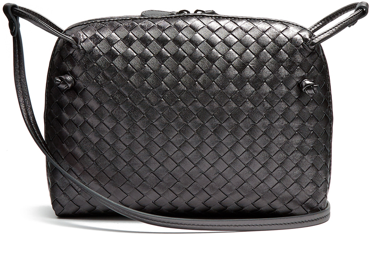 cdc8737eb6e8 ... Bottega Veneta Nodini Intrecciato Leather Cross Body Bag