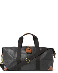 Charcoal Leather Holdall
