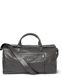 Creased leather holdall medium 329089