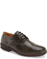 Charcoal Leather Oxford Shoes