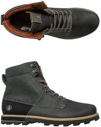 Charcoal Leather Work Boots