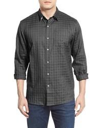 Charcoal Linen Long Sleeve Shirt