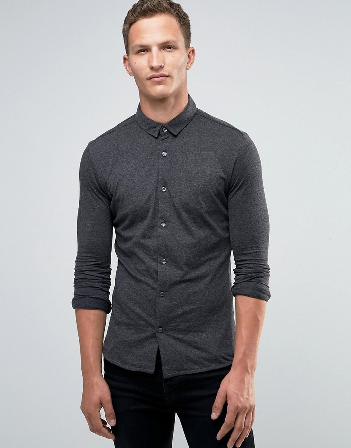 first rate new products buying cheap £36, Jack and Jones Jack Jones Premium Long Sleeve Shirt In Jersey