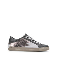 Crime London Metallic Lace Up Sneakers