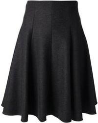 Charcoal Midi Skirt