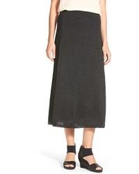 Eileen Fisher Paneled Merino Knit Midi Skirt