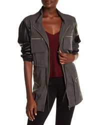 Charcoal Military Jacket