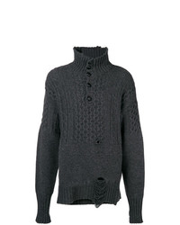 Maison Margiela Cable Knit Turtle Neck Jumper