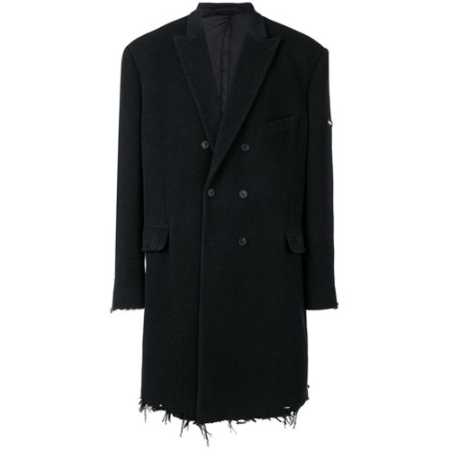 Balenciaga Distressed Double Breasted Coat