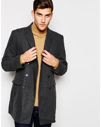 Selected Homme Double Breasted Wool Overcoat