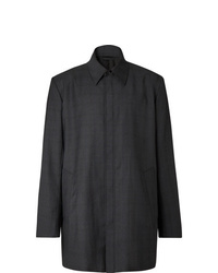 Balenciaga Oversized Prince Of Wales Checked Virgin Wool Overshirt