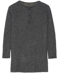 Effa oversized cashmere and silk blend sweater charcoal medium 405639