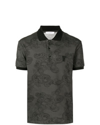 Versace Collection Paisley Printed Polo Shirt