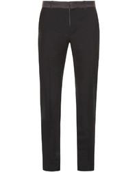 Alexander McQueen Ribbon Waist Slim Leg Trousers