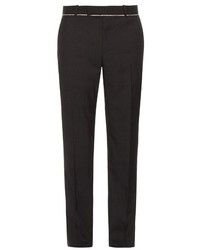 Alexander McQueen Slim Fit Raw Edge Trousers