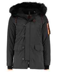 Superdry Parka Charcoal Marl