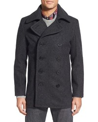 Slim fit wool blend peacoat medium 354600