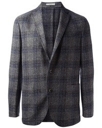 Charcoal Plaid Blazer