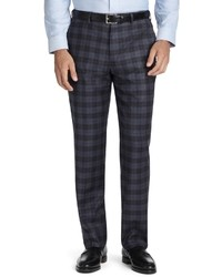 Charcoal Plaid Dress Pants
