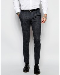 Heart Dagger Heart Dagger Check Suit Pants In Super Skinny Fit