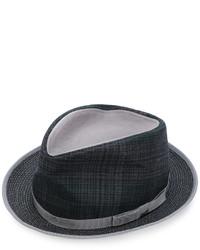 Etro Plaid Fedora Hat