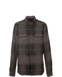 Rick Owens Textured Plaid Shirt