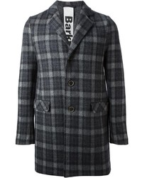 Charcoal Plaid Overcoat