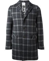 Charcoal Plaid Overcoat