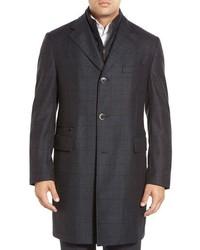 Classic fit plaid wool overcoat medium 372696