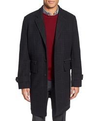 Michl kors trim fit plaid wool blend overcoat medium 372695