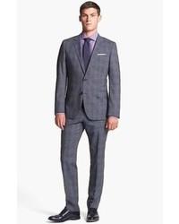 BOSS HUGO BOSS Hugegenius Trim Fit Plaid Suit Grey 42l