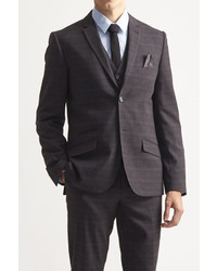 Charcoal Plaid Three Piece Suit