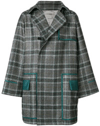 Contrast trim and check trench coat medium 5248581