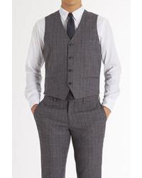 Charcoal Plaid Waistcoat