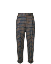 Brag-Wette Checked Cropped Trousers