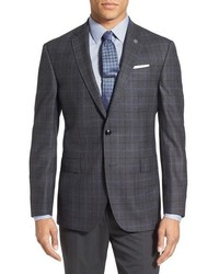 London jay trim fit plaid wool sport coat medium 730408