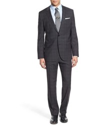 Charcoal Plaid Wool Suit