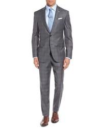 Ted Baker London Jones Trim Fit Plaid Wool Suit
