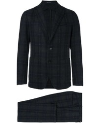 Tagliatore Plaid Two Piece Suit