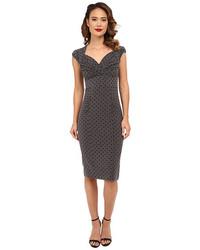 Charcoal Polka Dot Bodycon Dress