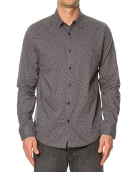 Charcoal Polka Dot Long Sleeve Shirt