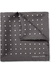 Charcoal Polka Dot Pocket Square