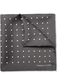 Turnbull & Asser Polka Dot Silk Pocket Square